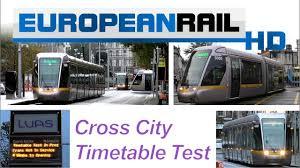 Dublin Bus 11 Timetable by Luas Cross City Timetable Test Dublin City Centre 11 November