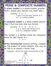prime numbers and factors worksheet factors multiples square roots and prime composite numbers