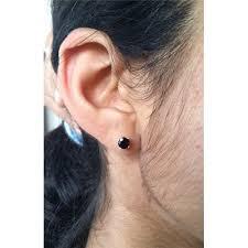 onyx stud earrings onyx stud earrings genuine black onyx 5mm faceted stud earrings