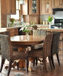 rattan and wicker dining room furniture ideas with kitchen chairs