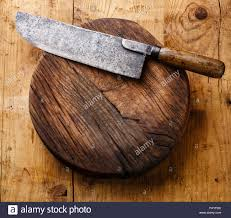 chopping board block and meat cleaver large chef u0027s knife on wooden