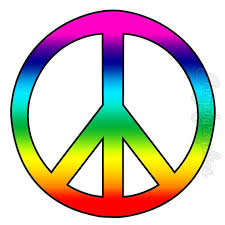 rainbow peace sign wall decals art peel stick wall stickers love rainbow peace sign wall decals art peel stick wall stickers love peace groovy hippie pc14