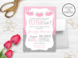 Babyshower Invitation Card Tutu Baby Shower Invitations Kawaiitheo Com