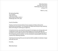 marketing thank you letter u2013 7 free sample example format