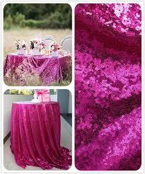 Cheap Table Linen by 2017 Buy From China 108 U0027 U0027 Round Fuchsia Sequin Table Linens For