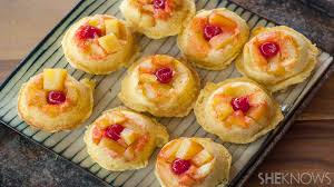 mini pineapple upside down cakes are your new fave low cal dessert