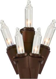 brown cord mini lights clear mini light set with 50 bulbs on brown wire 25 length