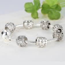 silver plated charm bracelet images Fashion women bracelet silver plated crystal bead charm bracelet jpg