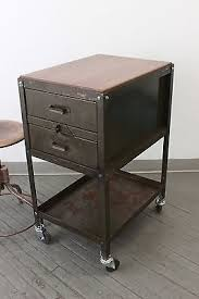 vintage industrial lyon kitchen island rolling tool cabinet cart