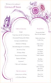 one page wedding program template one page program template pictures inspiration