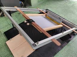 Alat Catok Besi cara pemakaian meja sablon frame catok enol