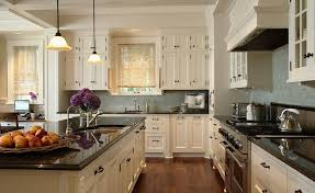 granite countertops for ivory cabinets ivory kitchen cabinets with black countertops transitional
