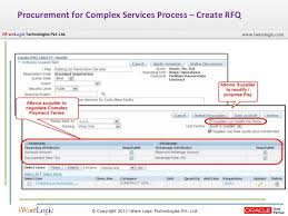 procurement of services using oracle ebs