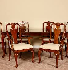 queen anne style dining table and chairs ebth