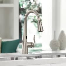 interior remarkable no touch kitchen faucet with moen arbor