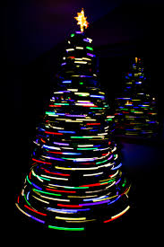 long exposure christmas tree