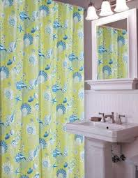 Seashell Shower Curtains Green Shells Shower Curtain 72 X 72 Shower Curtains Bath
