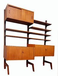 vintage teak free standing modular wall system unit
