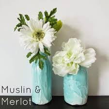 upcycle jars into gorgeous textured vases muslin and merlot