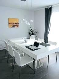 table cuisine blanc table de cuisine blanche et bois fabulous chaise unique a manger