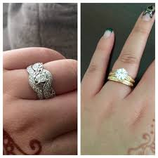 rings wedding set images How should i wear my two engagement rings wedding sets during jpeg