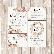 floral wedding invitations rectangle potrait flower pattern
