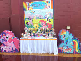 my little pony themed candy buffet candy table