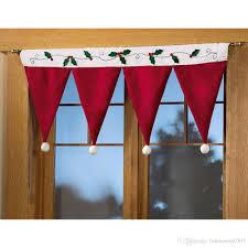 for home decor santa claus hat cap valances for home decor door window drape