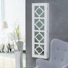 Armoire With Mirrored Front Jewelry Mirror Armoire Wall Mount Jewelry Armoire With Mirror