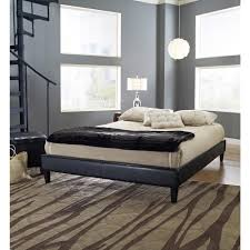 Black Leather Platform Bed Rest Rite Fairview Faux Leather Upholstered Bed Hcfrvpfbdbldb