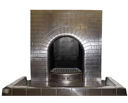 antique art deco vintage semi polished fireplace insert