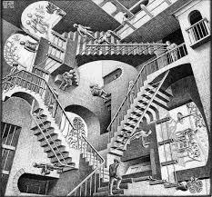an artist is turning mc escher s relativity into a