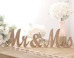 mr and mrs table decoration rose gold glitter mr and mrs sign mr and mrs table sign rose gold