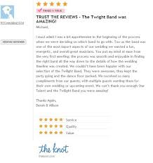 wedding band reviews wedding band reviews new york talent twilight band
