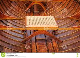 cane seat in antique guide boat stock photo image 76288015