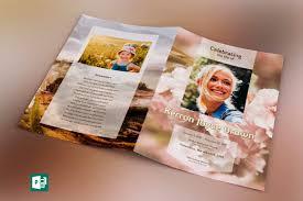 modern funeral programs adventure large funeral program publisher template v2 by godserv