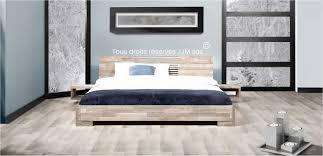 chambre chene blanchi lit en chêne blanchi design zenno bas