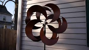 costco metal wind spinner kinetic garden sculpture