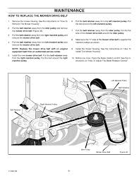 maintenance how to replace the mower drive belt murray