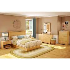 Platform Bed With Headboard with Natural Maple Beds U0026 Headboards Bedroom Furniture The Home Depot