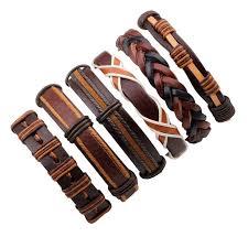 wrist bracelet men images 6pcs set leather bracelet men multilayer punk wrap bracelets jpg