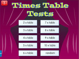 times table tests a year 4 times tables worksheet