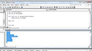excel vba basics 30 how to loop through each worksheet in
