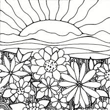 spring garden coloring pages cooloring with regard to flower