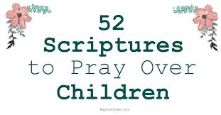 scripture prayer cards to pray over children kaylene yoder