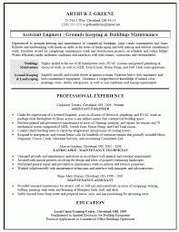 mechanics resume download building maintenance engineer sample resume designsid com