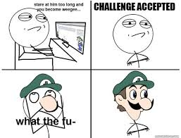 Challenge Accepted Meme Face - funny challenge accepted meme face joke quotesbae