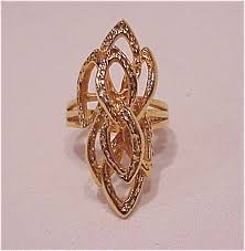 fashion long rings images 18k gold electroplate long abstract design fashion ring size 8 jpg