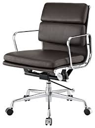brown leather mid back conference room chairs with casters http