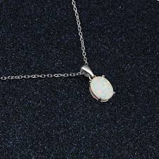 silver jewellery necklace sets images White fire opal jewelry sets 925 sterling silver necklaces rings jpg